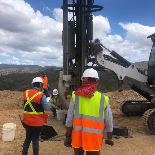 First drilling SA west pit-2