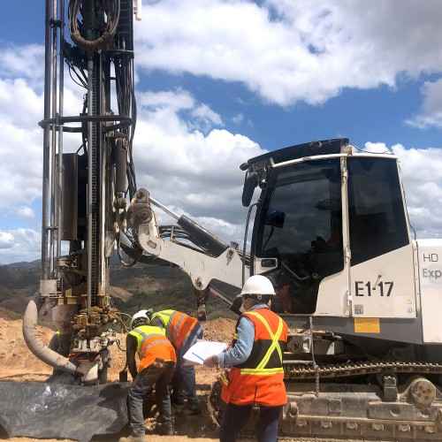 First drilling SA west pit