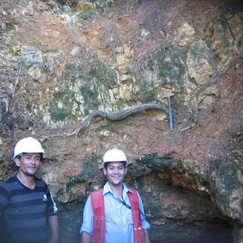Vein at the entrance of Chavaria Mine