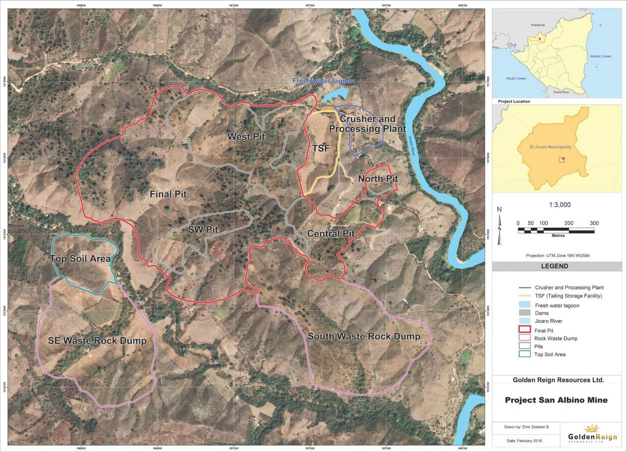 Project San Albino Mine Map